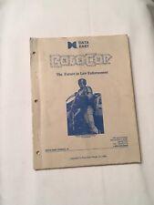 1989 Data East Robocop Pinball Manual