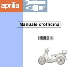CD MANUALE OFFICINA APRILIA SCARABEO 125 150 - Motore ROTAX 120S 150S