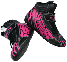 Nomex Flo Orange Size 10 Velocita O10 Safety Driving Racing Shoes SFI Leather