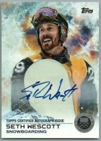 2014 Topps U.S. Olympic Team Autographs Silver #92 Seth Wescott EXCH LP 29/30