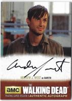 Walking Dead Season 4 Auto Autograph Card Andrew J West Gareth AJW1 Regular