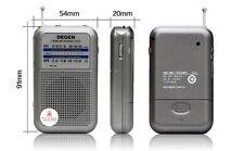 DEGEN DE333 Tiny portable pocket AM/FM radio - High Quality ideal for handbags