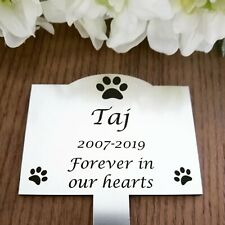 Pet Memorial Plaque Garden Stake cat dog Personalised grave marker any animal