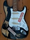 BASTA*DCASTER RELIC STRAT STYLE GUITAR SCALLOPED NECK GREAT PLAYER for sale