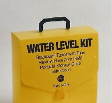 Spot-On Water Level Kit - Red Plastic Hose 20m/66ft & 2 Graduated Vials w/Caps