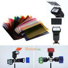 30pcs/Set Color Flash Diffuser Lighting Gel Pop Up Filter  for Canon Nikon YN56