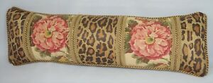 NEW Pillow made w Ralph Lauren Guinevere Brown Floral & Venetian Leopard Fabric