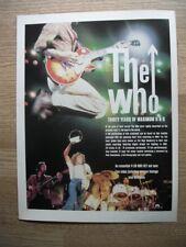 The Who - Thirty Years of Maximum R & B - MAGAZINE PRESS ADVERT 30 X 22cm