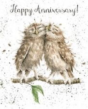Wrendale Designs Happy Anniversary Greeting Card NEW Owls