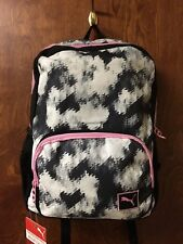 """Puma Girl's 15"""" Youth Laptop Backpack Black/White/Pink"""