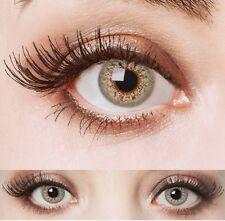 aricona graue natürliche farbige Kontaktlinsen ohne Stärke 12 Monatskontaktlinse