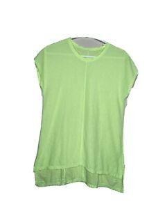 Women's Lululemon Short Sleeve T-Shirt Striped Yellow Size  See measurements