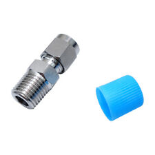 "SS 304 Double Ferrule Compression Tube Fitting Male Connector 12 mm OD *1/2"" NPT"