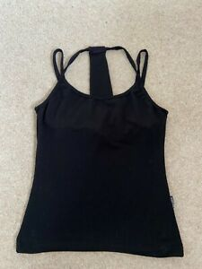 TLC sport black yoga/pilates vest with hidden support - medium