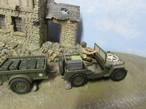 1/32 Scale Forces of Valor Jeep & Trailer w customised driver and cargo