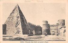 BR32751 Roma Piramide Caio Cestio con port a S. Paolo italy