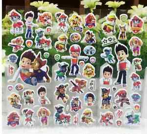 PAW PATROL STICKERS STICKER SHEET BIRTHDAY PARTY LOLLY LOOT BAG BOX SUPPLIES