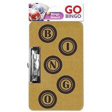 Billete De Bingo Juego de Tablero Metal Clip Broche Colgante 22 cm X 15 Cm