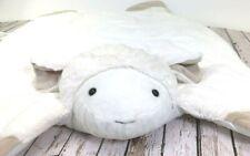 Pottery Barn Ivory Lamb Plush Play Mat Infant Baby Sheep Blanket