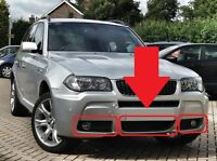 BMW NEW GENUINE X3 E83 (03-06) M SPORT FRONT BUMPER GRILLES MESH SET OF THREE