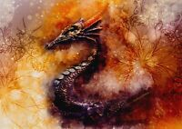 A1 Fire Dragon Chinese Abstract Poster Art Print 60 x 90cm 180gsm Gift #13273