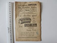 VINTAGE 1935 THE COVENTRY GODIVA SPORTS PROGRAMME PAGES LOOSE/COMING OUT CB22/5