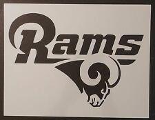 """LA Los Angeles St. Louis Rams Football 11"""" x 8.5"""" Custom Stencil FREE SHIPPING"""
