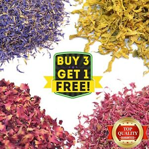 Dried Flowers for Natural Wedding Confetti - Biodegradable Real Dry Eco Petals
