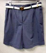 ARCHITECT TROUSER style SHORTS w/belt womens plus size 16W NAVY BLUE EUC #2326