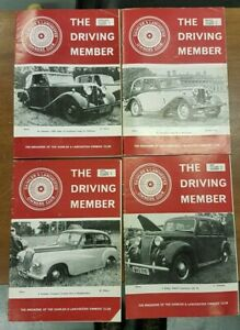 The Driving Member, Daimler & Lanchester Club Magazine. 4 issues, Vol 12, 1976