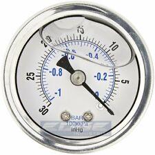 """Liquid Filled Vacuum Gauge -30-0 Psi, 1.5"""" Face, 1/8"""" Npt Back Mount"""