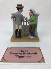 c.1980 Norman Rockwell The Rivals Bisque Porcelain Figurine - Danbury Mint