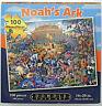 jigsaw puzzle 100 pc Eric Dowdle Folk Art Noah's Ark magnetic box container