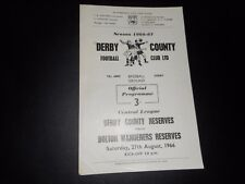 DERBY COUNTY  reserves  v  BOLTON WANDERERS  reserves  1966/7   ~ AUGUST 27th