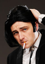 Mens Pulp Fiction Vincent Style Fancy Dress Movie Cosplay Black Wig