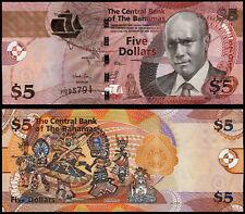 BAHAMAS 5 DOLLARS (P72A) 2013 UNC