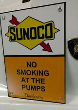 Sunoco No Smoking Motor Oil gas gasoline sign