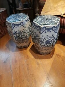Pair ofChinese pot stands/side tables