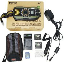 Pentax WG-3 GPS 16.0MP Waterproof Digital Camera Green w/ Box & Accessories