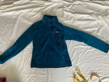 patagonia womens blue retool snap fleece pullover small