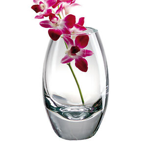 """Radiant European Mouth Blown Crystal 9"""" Vase  - The Bomb!"""