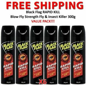 6 x Black Flag RAPID KILL Fly & Insect Killer 300g VALUE PACK!!! DISCONTINUED!!!