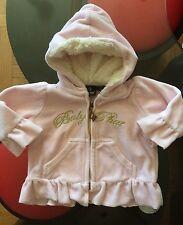Baby Phat Infant Girls Velour Hoodie Jacket Sz 6-9 Mos