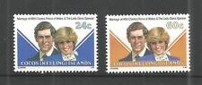 Islas Cocos (Keeling) 1981 Boda Real SG, 70-71 u/mm nh Lote 691A