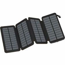 FEELLE Solar Charger 25000mAh Portable Power Bank With2 USB Waterproof Travel