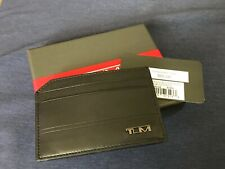 TUMI DFO HORIZON SLG MONEY CLIP CARD HOLDER BLACK LEATHER NEW MINT