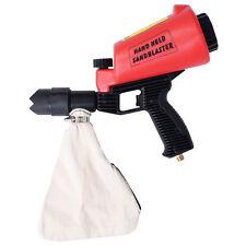 Air Hand Held SandBlaster Gun Gravity Feed Sand Blaster Lightweight w/ 4 Nozzle