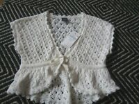 BABY GAP GIRL 18 24 WHITE IVORY SHORT SLEEVE CARDIGAN SWEATER NWT EASTER