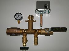"""1x4.5"""" BRASS TANK TEE KIT+VALVES+WELLMATE QUICK CONNECT WM 4 6 9 12 SQUARED 3050"""