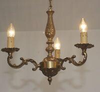 Estilo Antiguo 3 luces Araña de cristal en Moderno Lámpara techo latón o40cm LED